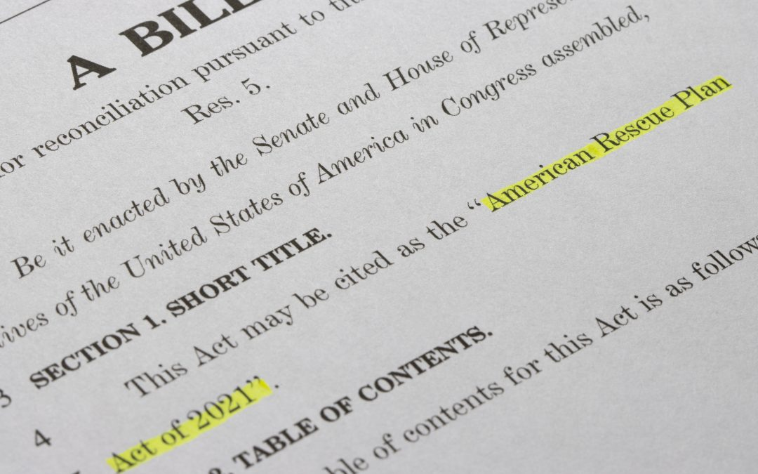 New Relief Bill Includes Tax Provisions